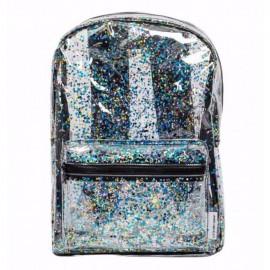 Nahrbtnik Glitter - transparent/black