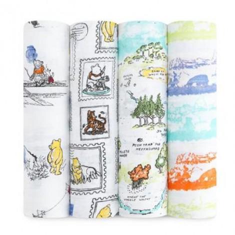 aden+anais velike tetra plenice (4) iz muslina - Winnie the Pooh