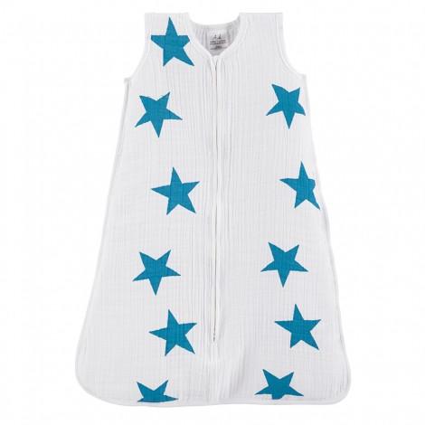 aden+anais poletna spalna vreča - modre zvezde