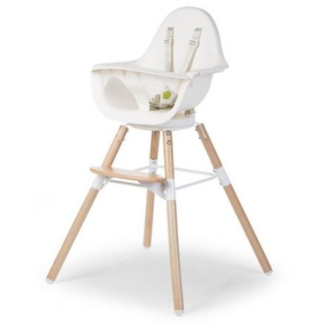 Otroški stol Childhome Evolu ONE.80° White/Natural