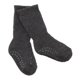 ANTISLIP nogavičke iz bombaža - Dark Grey Melange