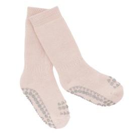 ANTISLIP nogavičke iz bombaža - Soft Pink Glitter