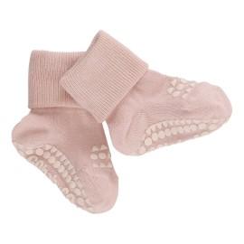 ANTISLIP nogavičke iz bambusa - Soft Pink