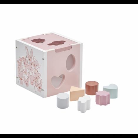 Lesena sestavljanka EDVIN pink