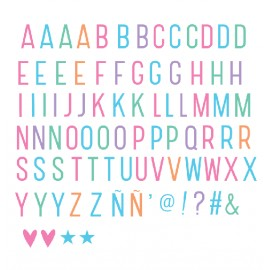 Lightbox letter set - Pastel