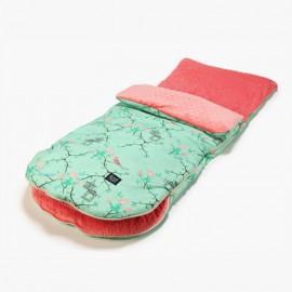 Nepremočljiva vreča za voziček (9 - 24 m) - roses / coral