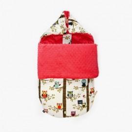 Nepremočljiva vreča za voziček (0 - 9 m) - owl radio / watermelon