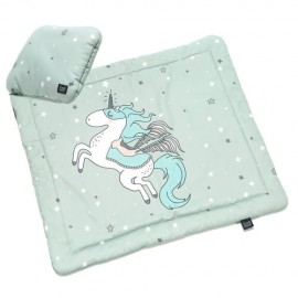 Komplet posteljnine newborn - siv samorog