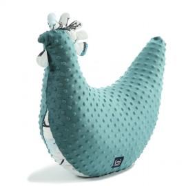 Velika kokoška, vzglavnik, blazina za dojenje in igrača - deep ocean/blue birds