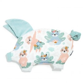 Sleepy pig vzglavnik - velvet mint yoga candy