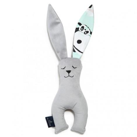 Plišasti zajček - velvet dark grey/ilovepanda mint