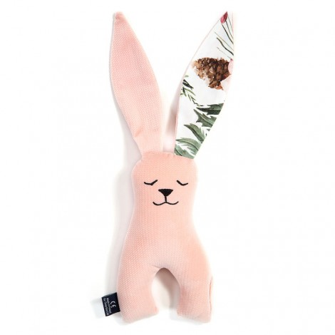 Plišasti zajček - velvet powder pink/wild blossom