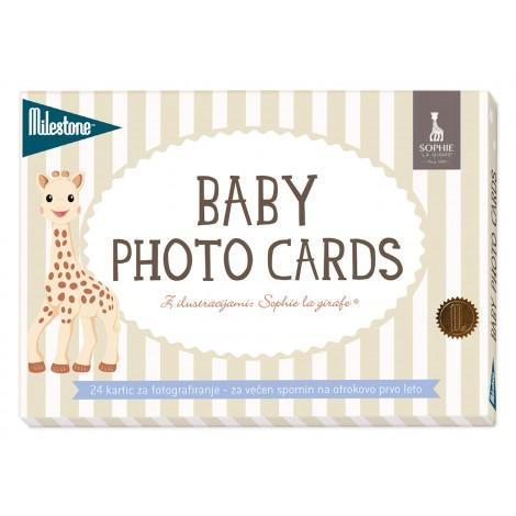 MILESTONE kartice za fotografiranje dojenčka - Sophie La Girafe (SLO)