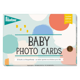MILESTONE kartice za fotografiranje dojenčka - Cotton Candy (SLO)