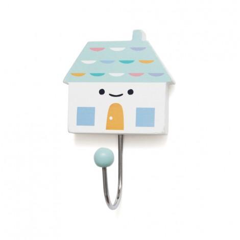 Kljukica obešalnik - mint hiška