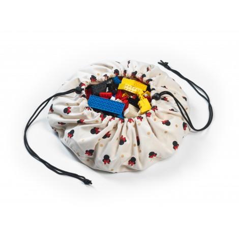 Mini vreča za shranjevanje igrač in igralna podloga Play&Go 2v1 - Minnie