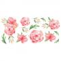 Stenske nalepke - Watercolor rože