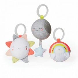 Trio obešank - sonček, luna, mavrica
