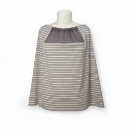 Trendovski šal za dojenje - Grey Stripe