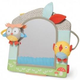 Prijazni ptički - aktivnostno ogledalo - Grey/Pastel