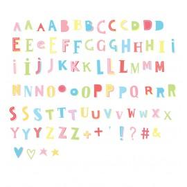 Lightbox letter set - Funky colour