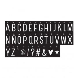 Lightbox letter set - Monochrome