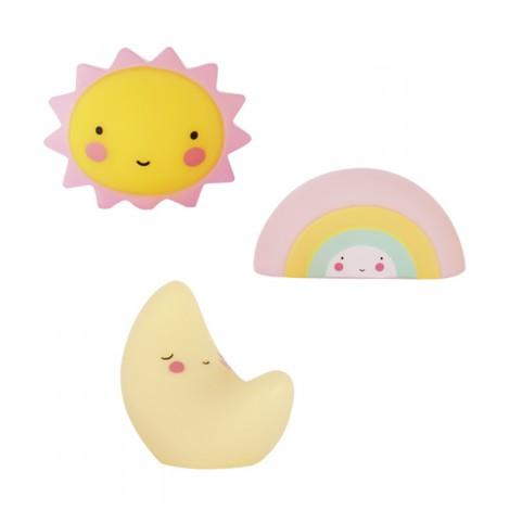 Mini Lunica, Mavrica in Sonček