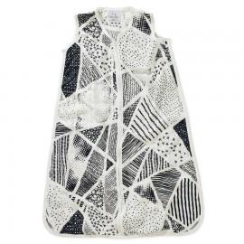 Otroška poletna spalna vreča iz bambusa - črno-bela