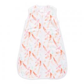 Otroška poletna spalna vreča - petal blooms - feathers