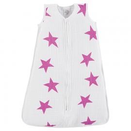 Otroška poletna spalna vreča - roza zvezde