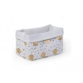 Košarica za igrače White Gold Dots 20 x 20 x 32 cm