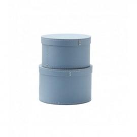 Set okroglih škatel Blue
