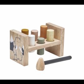Lesena igračka s kladivom Neo