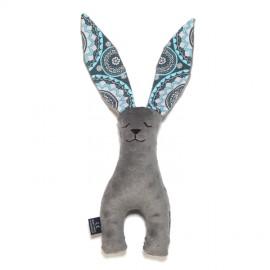 Plišasti zajček - mosaic grey