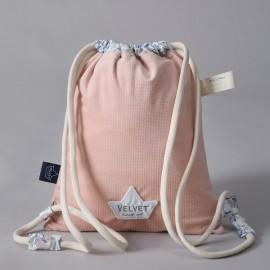 Otroški nahrbtnik - velvet powder pink