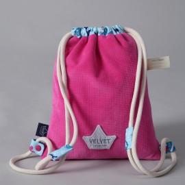 Otroški nahrbtnik - velvet fuchsia / pinky mermaids