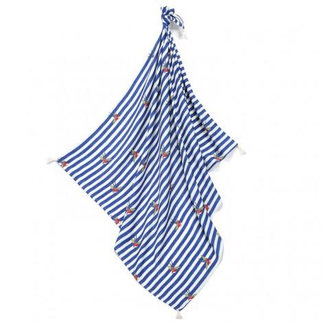 Odejica iz bambusa - barber sailor strips