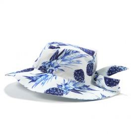 Klobuček za deklice - modri ananasi