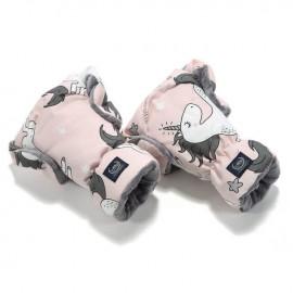 Nepremočljive rokavice za voziček - unicorn sugar bebe / grey