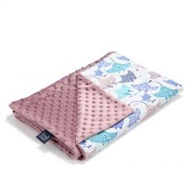 Dvostranska odeja (80x100cm) - manta ray/french lavender