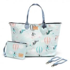 Velika previjalna torba s torbico - miss cloudy