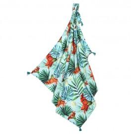 Odejica iz bambusa - modre havajske rože