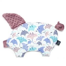 Sleepy pig vzglavnik - lavender manta ray