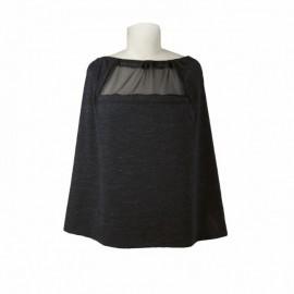Trendovski šal za dojenje - Black heather