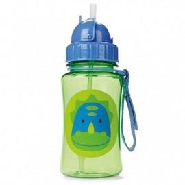 Steklenička s slamico - dinozaver