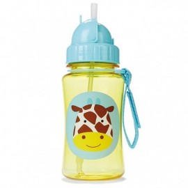 Steklenička s slamico - žirafa