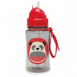 Steklenička s slamico - panda