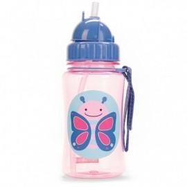 Steklenička s slamico - metuljček