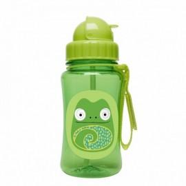 Steklenička s slamico -  kameleon