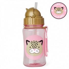Steklenička s slamico -   Leopard